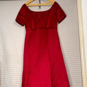 Women's Long Cranberry Red Dress